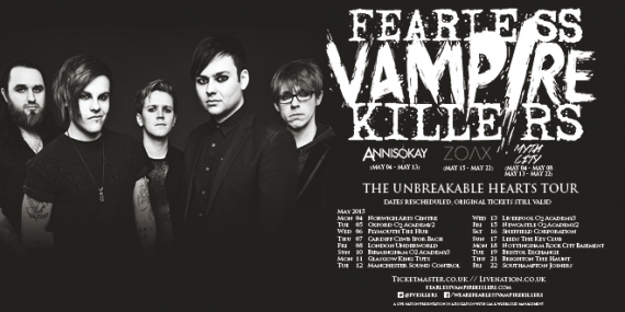 Fearless Vampire Killers featuring Annisokay - 8th May - The Underworld, Camden