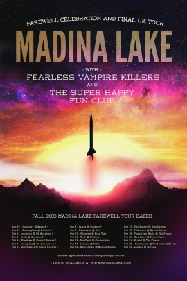 Madina Lake - Farewell Tour - Final Show - 23rd October - The Garage, London
